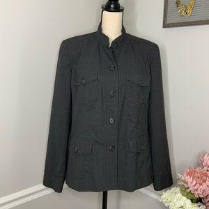 LANDS END Grey utility  dress jacket sz16